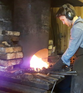 My son in the forge